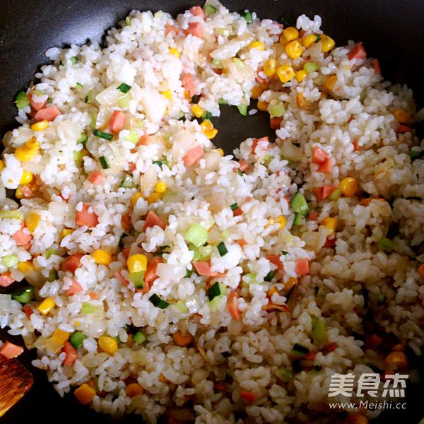 扬州炒米饭的简单做法