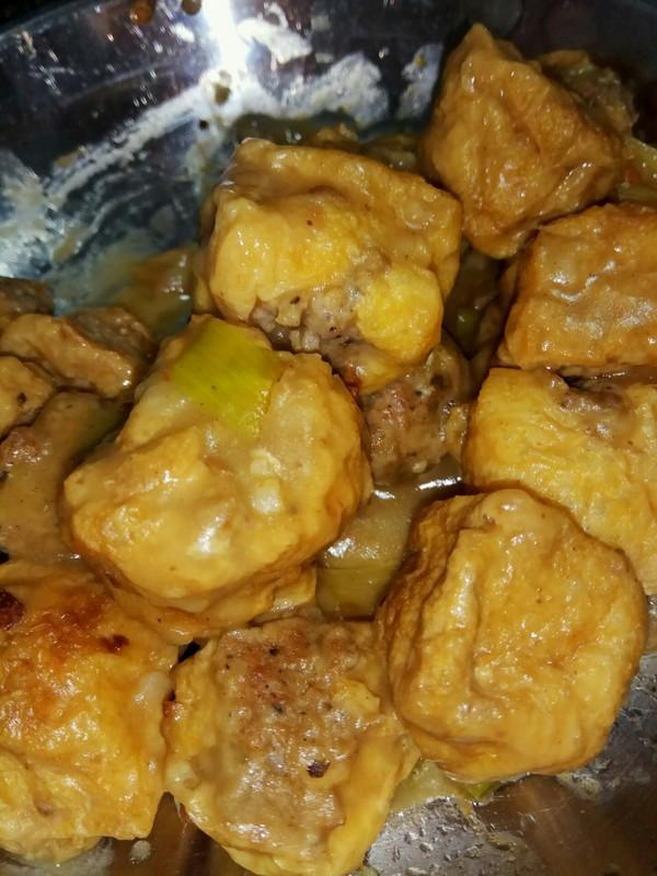 豆腐泡塞肉简单好吃怎样做
