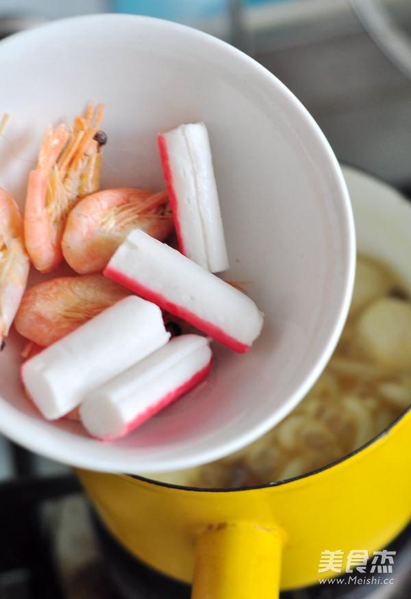 咖喱海鲜乌冬面怎么吃