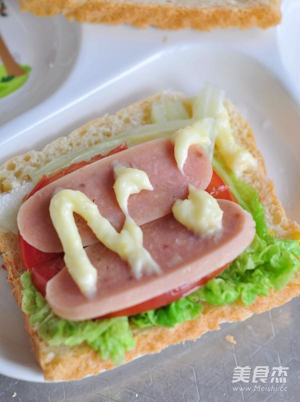 玉米蔬菜三明治怎样做
