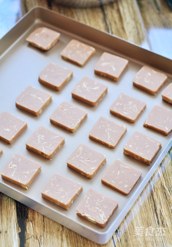 巧克力杏仁饼干的步骤