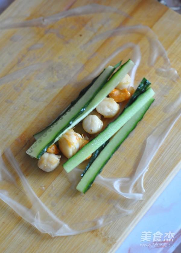 扇贝越南春卷怎么煮