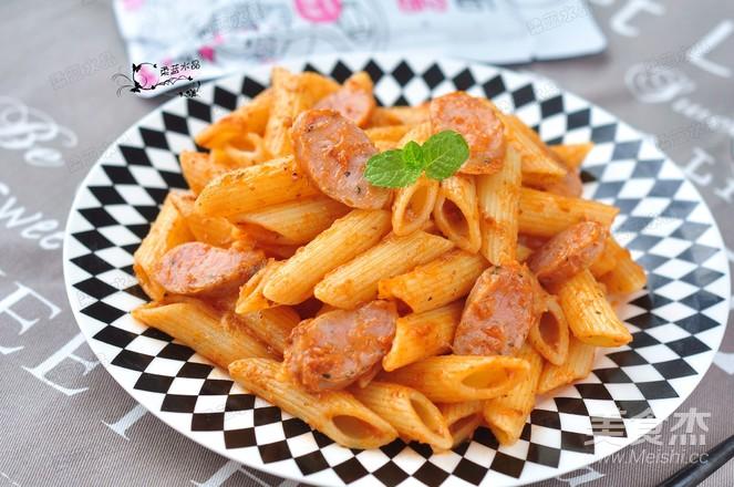 意大利肉酱斜管面成品图