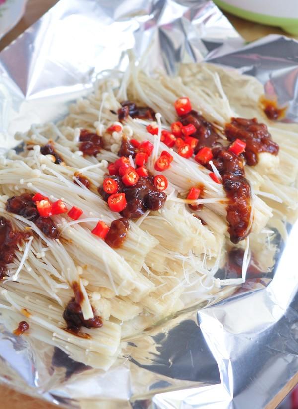 蒜蓉烤金针菇的简单做法