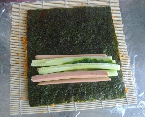 韩式香辣寿司的步骤