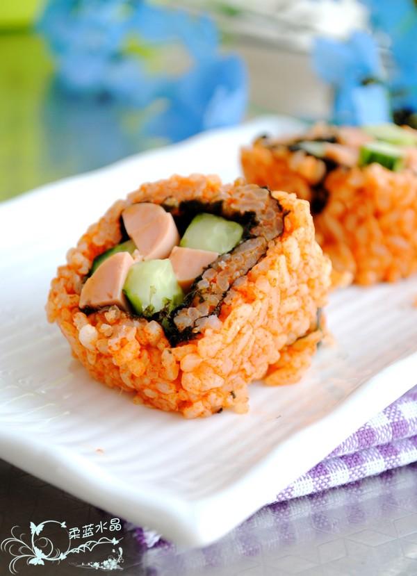 韩式香辣寿司成品图