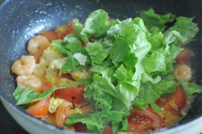 番茄烩虾球的步骤