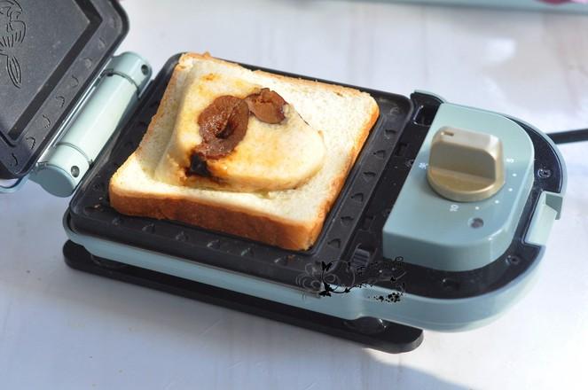 粽子蜜豆三明夹的家常做法