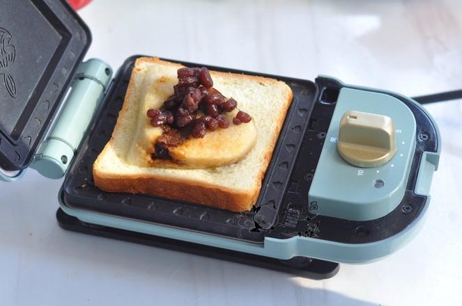 粽子蜜豆三明夹的简单做法