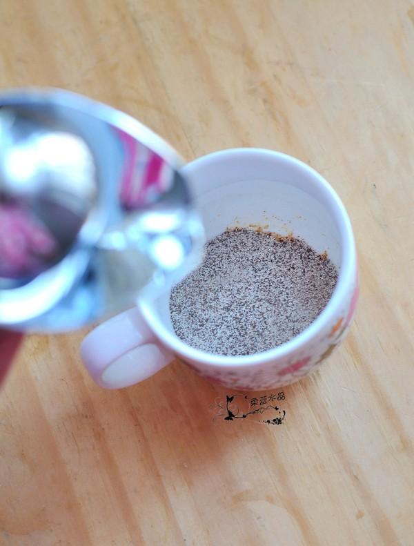 简易拉花咖啡的步骤