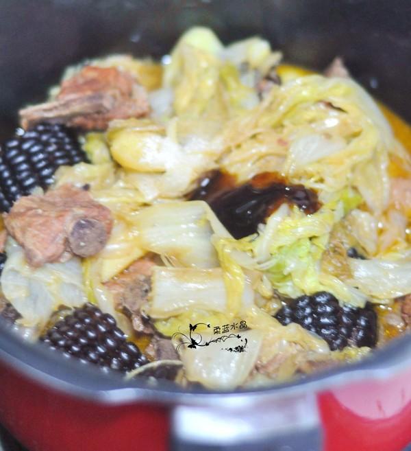 黑玉米白菜烧排骨怎么炒