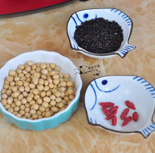 黑米枸杞豆浆的做法大全
