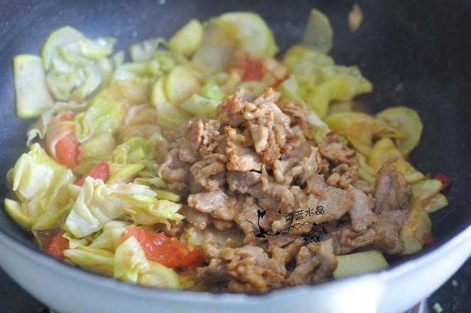西葫芦过油肉怎么做