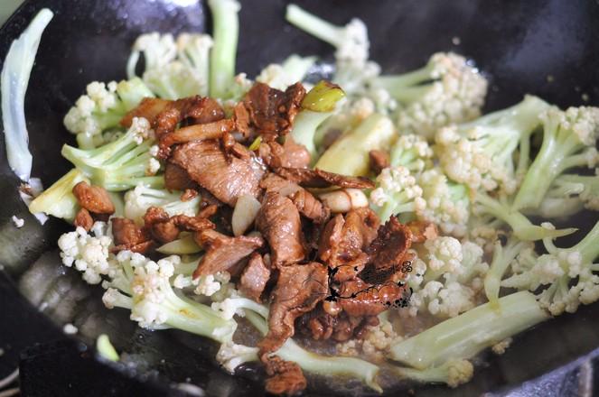 有机菜花炒肉怎么吃