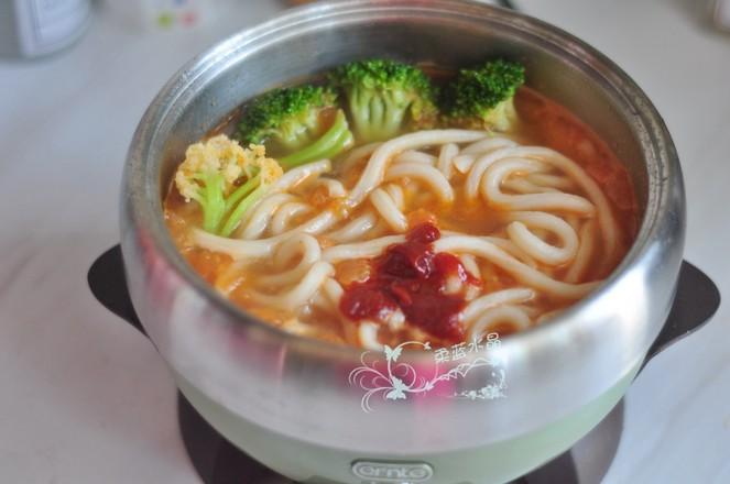 #冬至大如年#五花肉茄汁乌冬面怎么煮