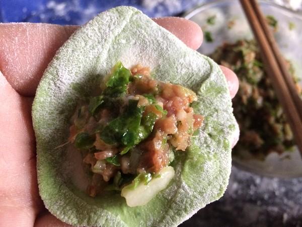 翡翠白菜饺子的制作方法