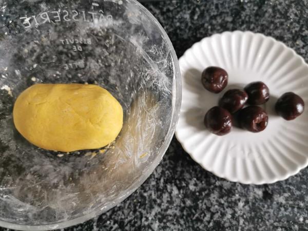 南瓜糯米豆沙包的简单做法