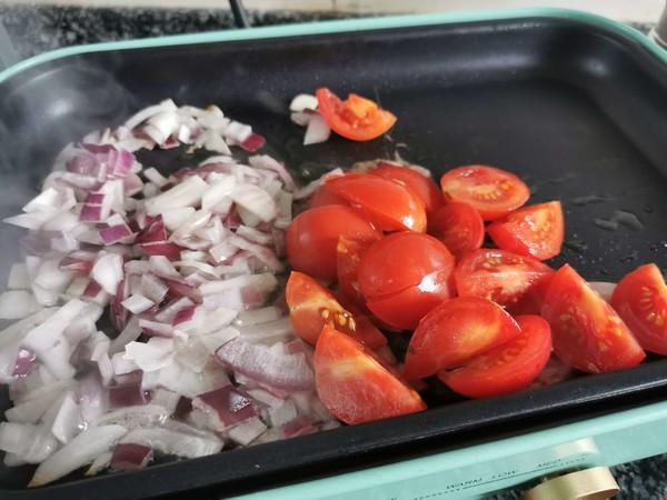 番茄虾仁意面怎么炒
