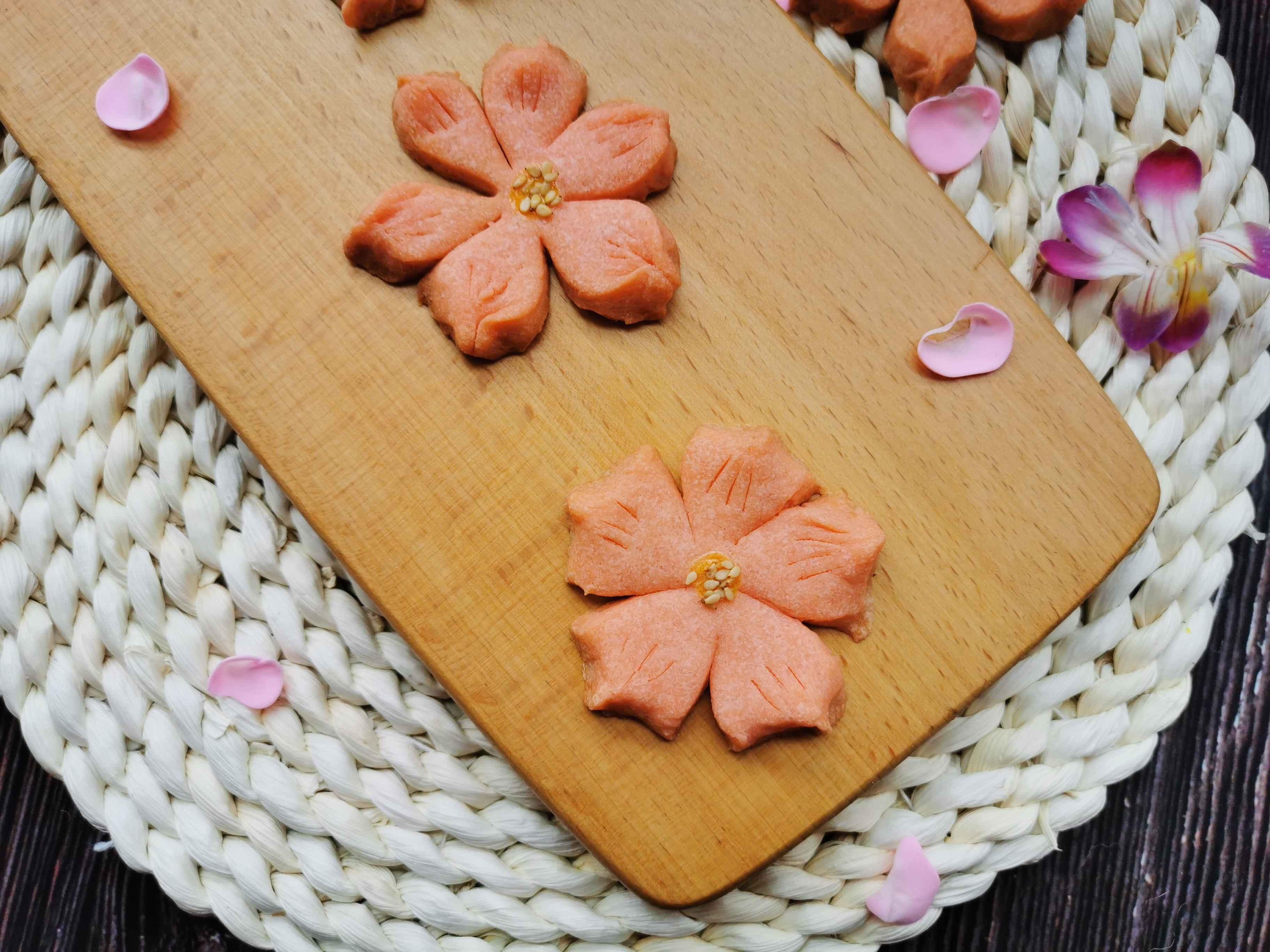 桃花酥黄油饼干版成品图