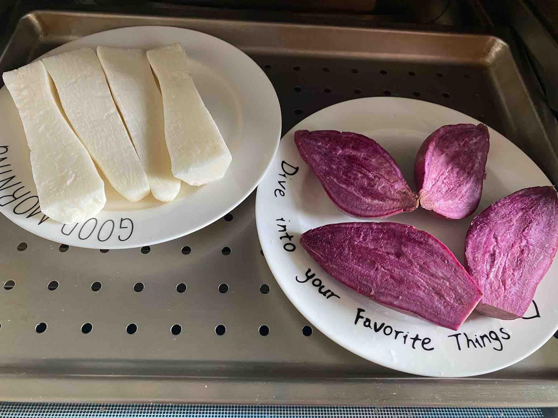 紫薯山药糕的家常做法