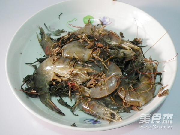 茶叶焗虾的简单做法