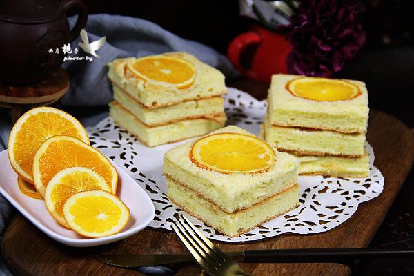 香橙蛋糕成品图