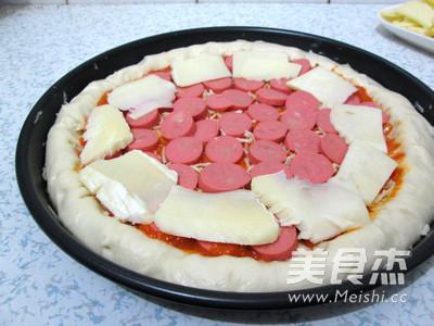 芝心香肠苹果披萨怎样煮