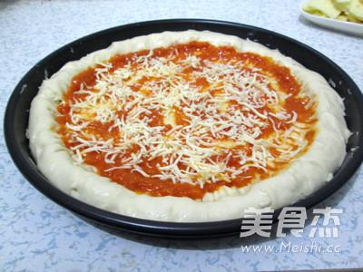 芝心香肠苹果披萨怎样做