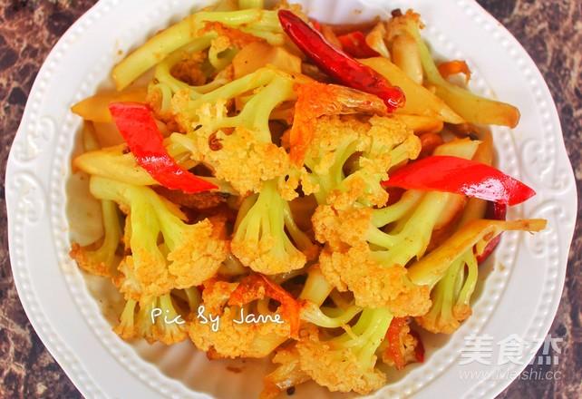 沙茶炒菜花怎么煮