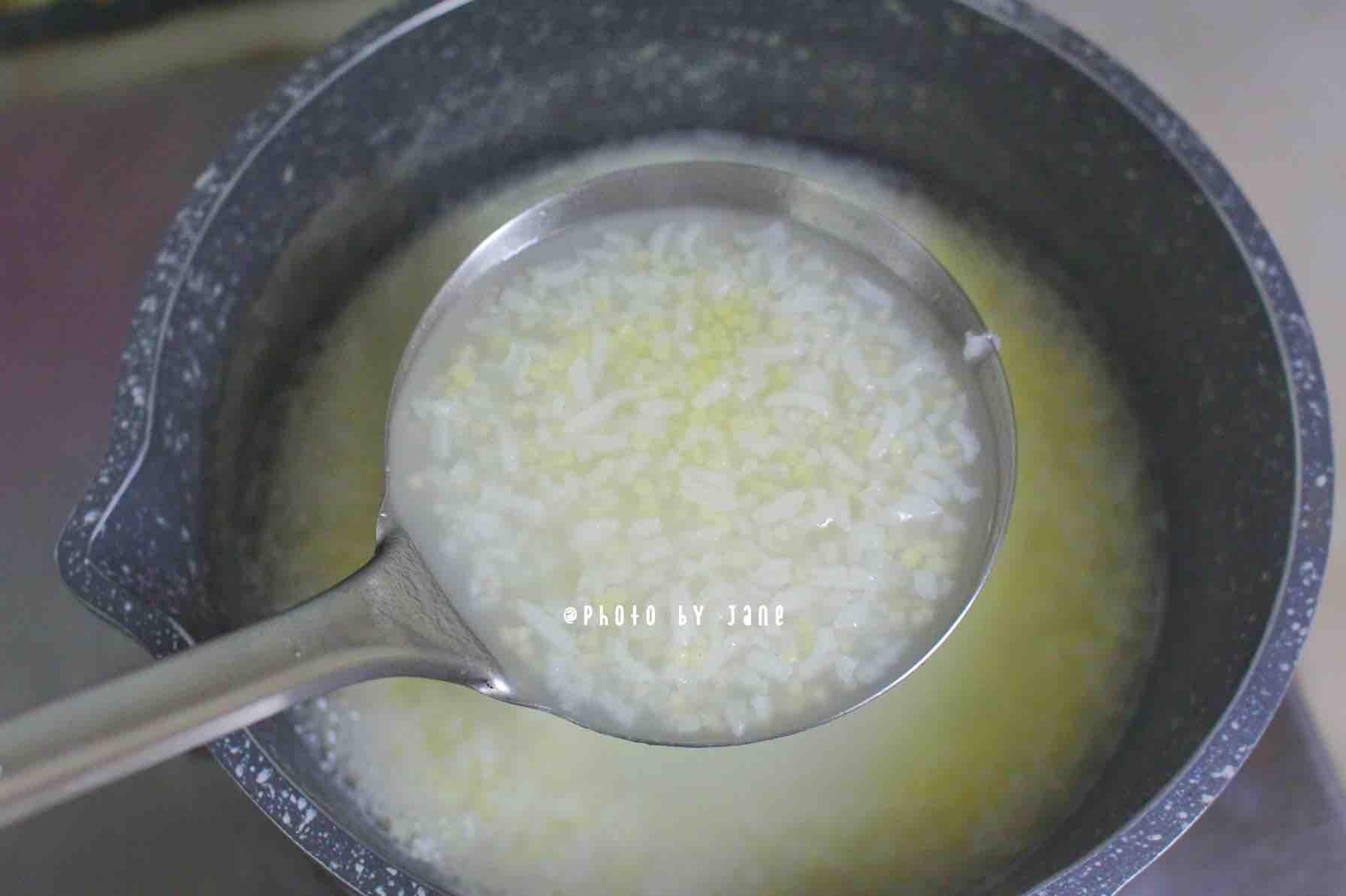 三文鱼小米粥的简单做法