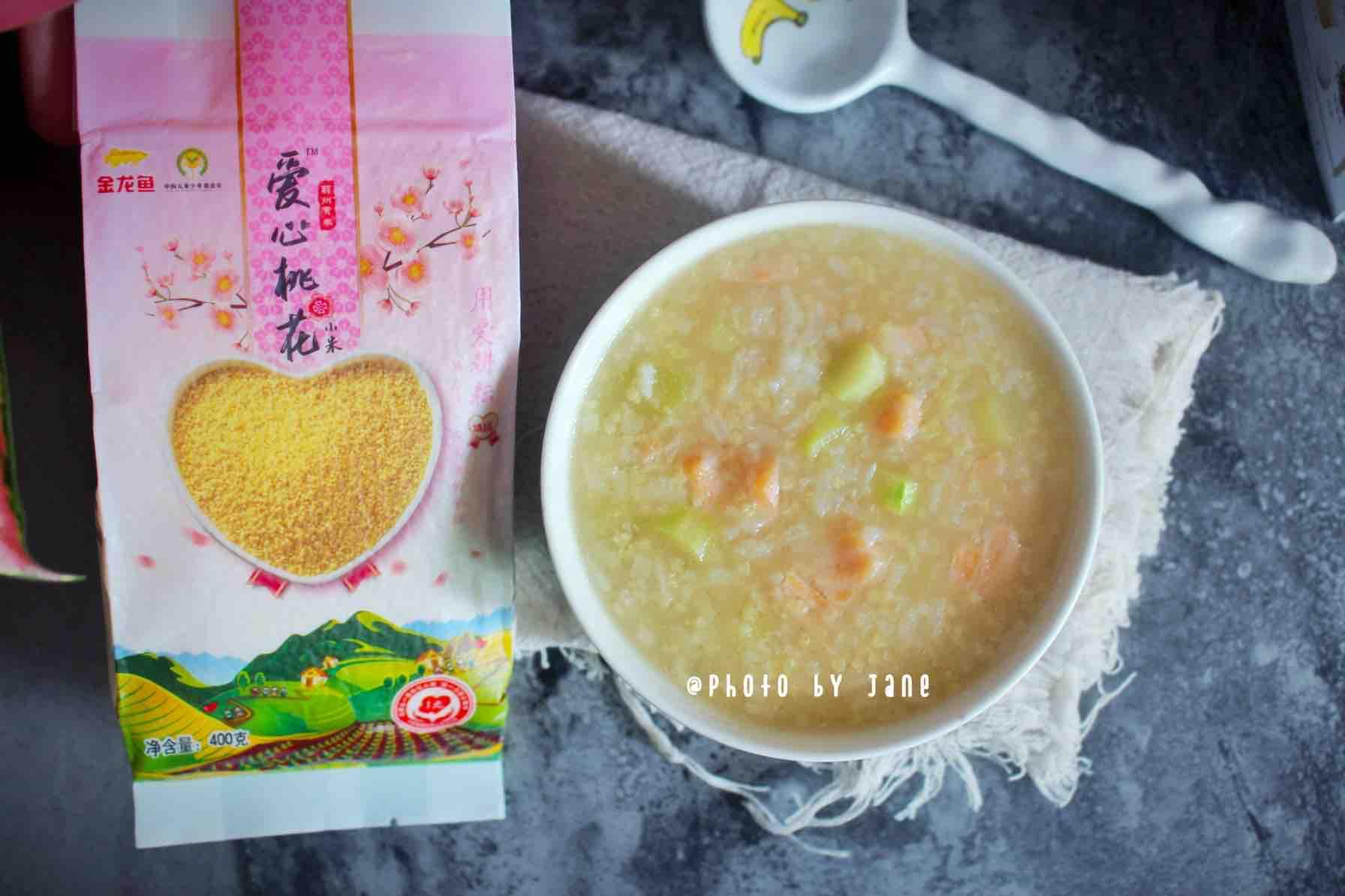 三文鱼小米粥怎么炒