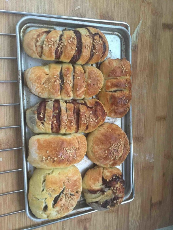 烤箱面包成品图