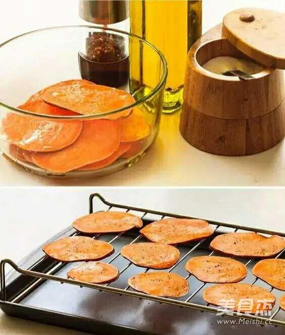 烤红薯片的做法图解