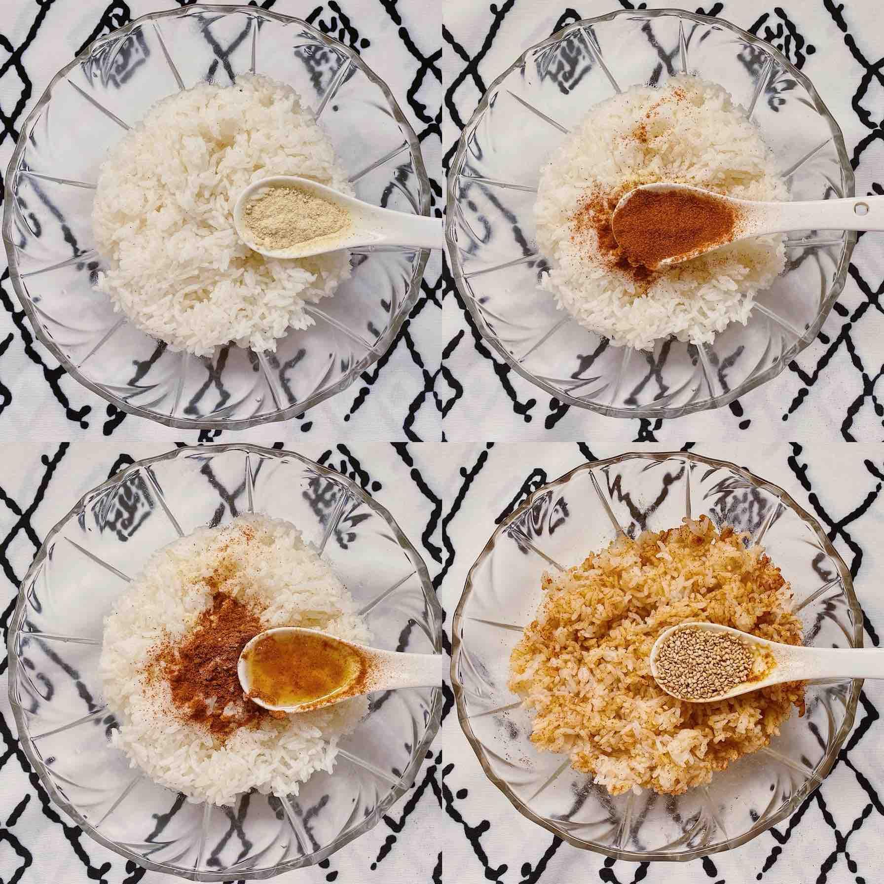 ㊙️米饭的神仙吃法|日式芝士饭团的步骤