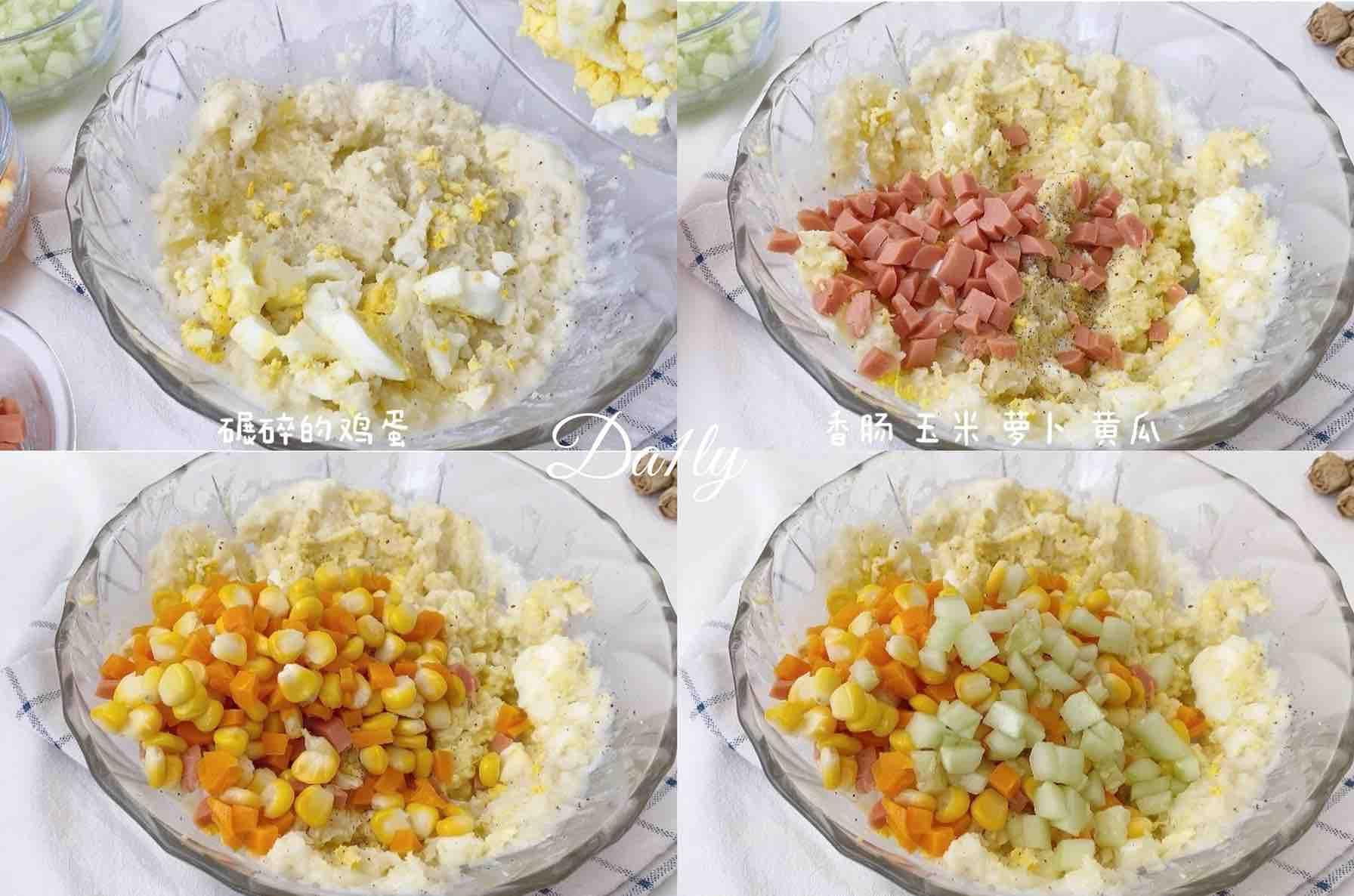 减肥期最佳代餐‼️低卡高颜值土豆泥沙拉怎么炒
