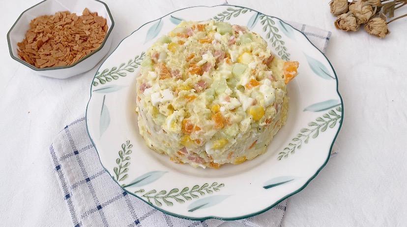 减肥期最佳代餐‼️低卡高颜值土豆泥沙拉怎么炖