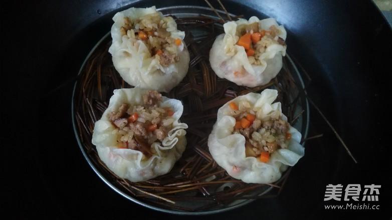 香菇糯米烧麦的制作方法