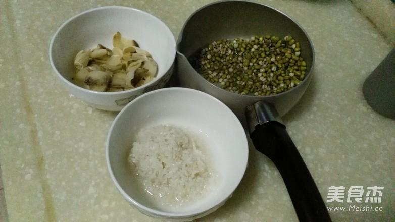 绿豆薏米百合粥的做法图解