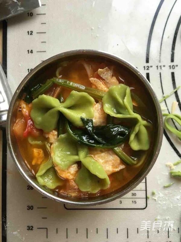 西红柿鸡蛋彩色面条怎么煮