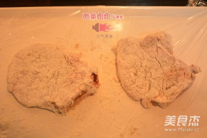 上海炸猪排配辣酱油的家常做法