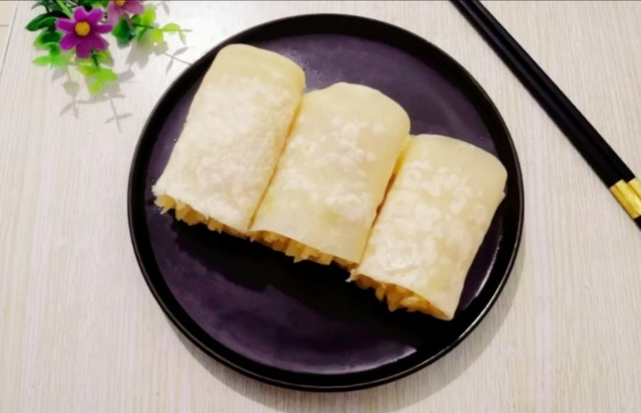 春饼卷土豆丝成品图