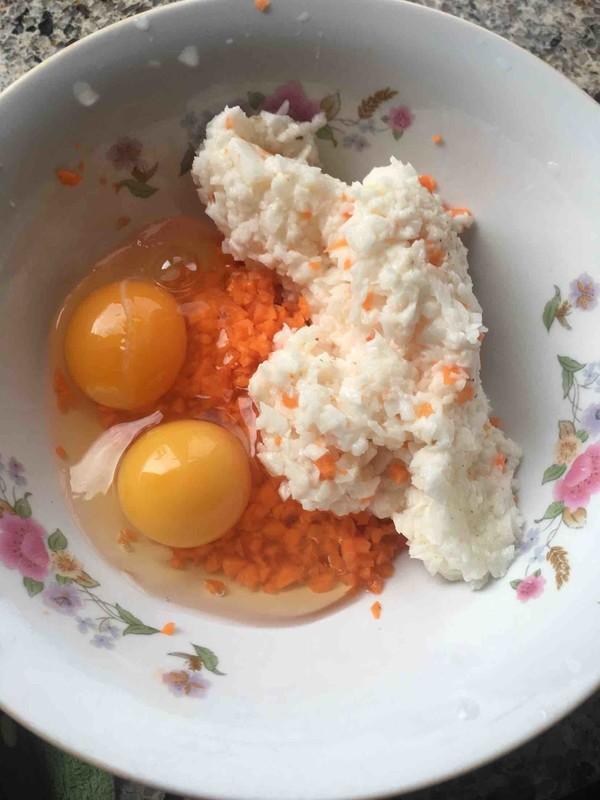 山药胡萝卜鸡蛋饼的家常做法