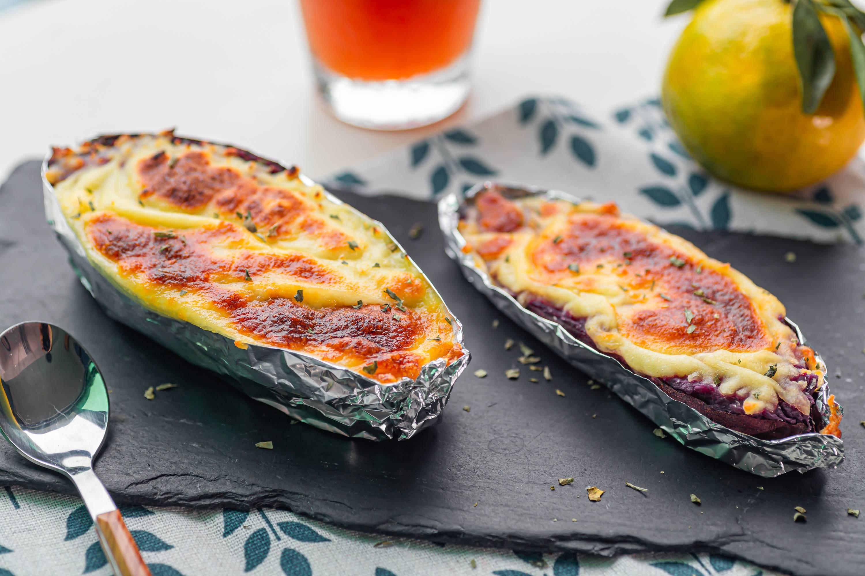 马苏里拉芝士焗紫薯的做法大全