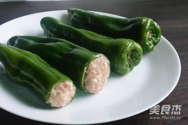 虎皮青椒酿肉的简单做法