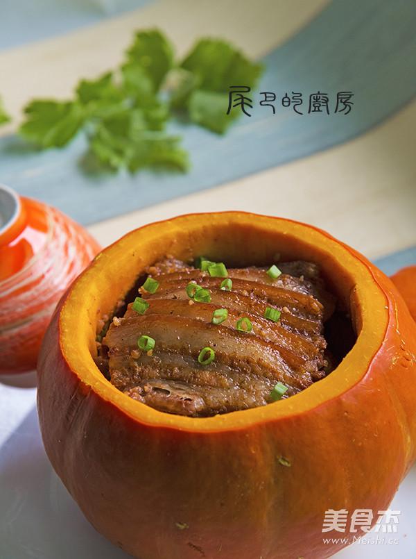 金瓜粉蒸肉成品图