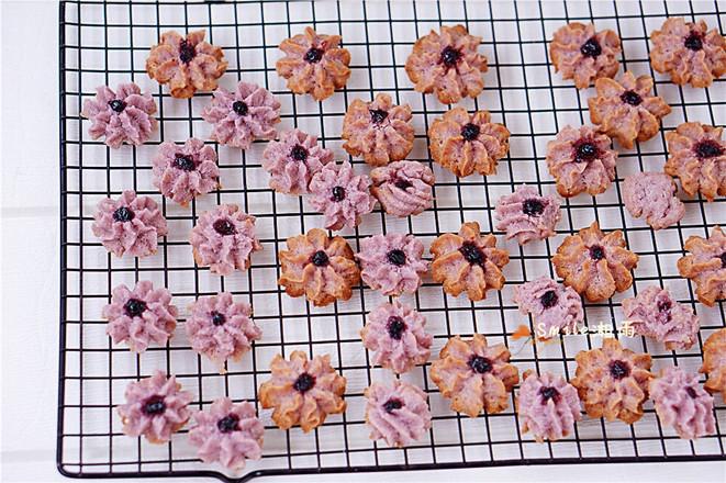 紫色花朵曲奇怎样做