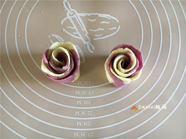 紫薯双色玫瑰馒头,奶香味十足,美丽浪漫!怎样炒