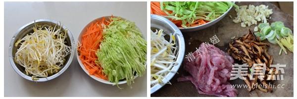香菇肉丝炒面的做法图解