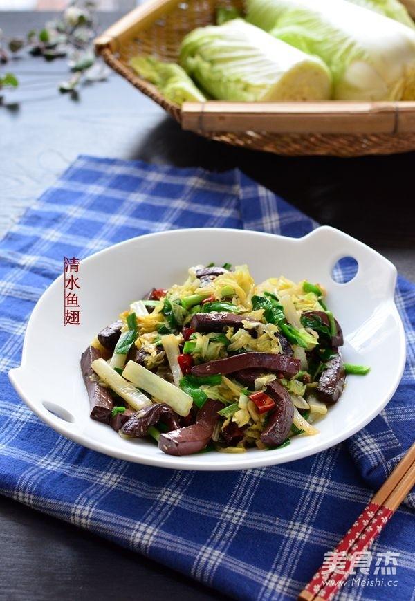大白菜炒血豆腐怎么做