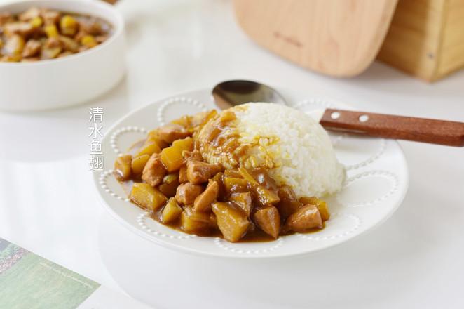 咖喱土豆鸡块成品图